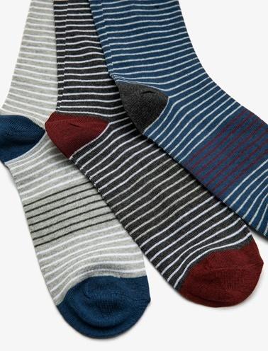 Koton 3'lü Çorap Mavi
